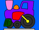 Coloring page Train painted byandy20