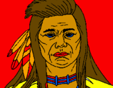 Coloring page Indian painted byashley garritano