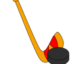 Coloring page Stick and puck painted bysrgiote