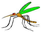 Coloring page Mosquito painted bywill