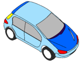 Coloring page Car seen from above painted byjoao