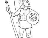 Coloring page Trojan warrior painted byjordan
