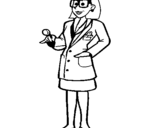 Coloring page Doctor with glasses painted bymar