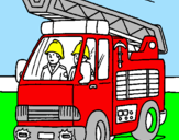 Coloring page Fire engine painted bydaniel