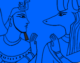 Coloring page Ramses and Anubis painted bySophie