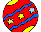 Coloring page Big ball painted byLevi