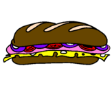 Coloring page Vegetable sandwich painted byYummy, make ya hungry?