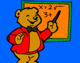 Coloring page Bear teacher painted bytanadia