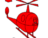Coloring page Helicopter painted bygABY