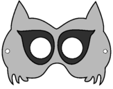 Coloring page Raccoon mask painted bykieran