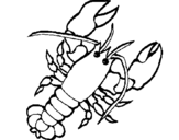 Coloring page Lobster painted byyuan
