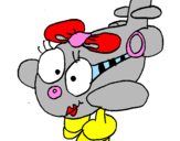 Coloring page Clara plane painted byFrom;Pamela