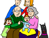 Coloring page Family  painted byAnakaren