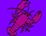 Coloring page Lobster painted byLAURNCE