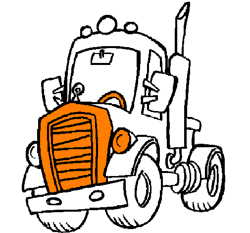 Coloring page Tractor painted bycalla