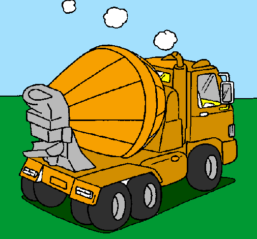 Coloring page Concrete mixer painted byanonymous