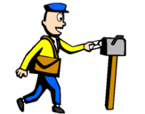 Coloring page Postman painted byandrew