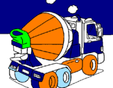 Coloring page Concrete mixer painted byjemilio