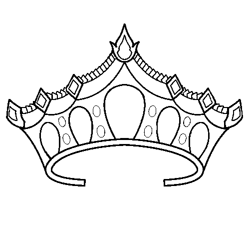 Coloring page Tiara painted byt