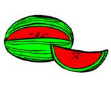 Coloring page Melon painted byMynáá dyy lúúxõõ