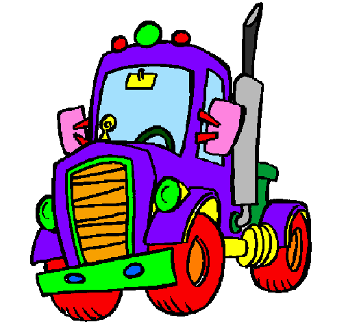 Coloring page Tractor painted byfilippo