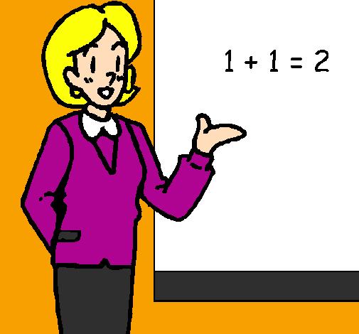 Colored Mathematics Teacher Painted Kaden