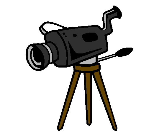 Coloring page Movie camera painted byoataz