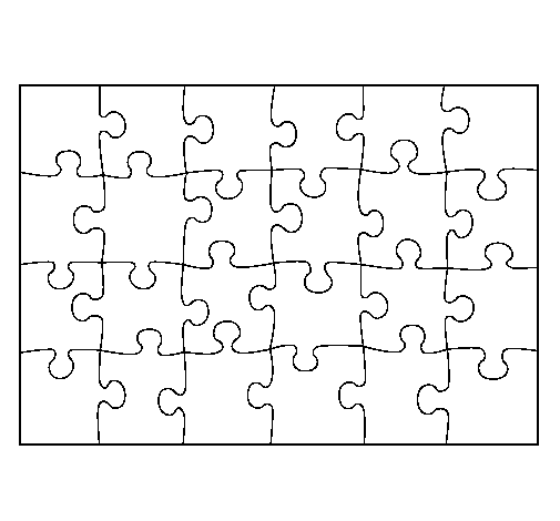Coloring page Puzzle painted byemel