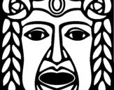 Coloring page Maya  Mask painted byCHOKOH PEC MA KOL