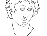 Coloring page Bust of Alexander the Great painted bylexi