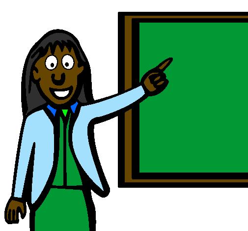 Coloring page Teacher II painted bykakay