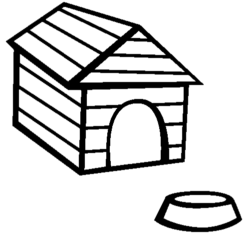 Coloring page Dog house painted byio