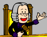 Coloring page Judge painted byCourt