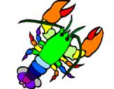 Coloring page Lobster painted bymelman