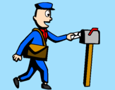 Coloring page Postman painted bymartina
