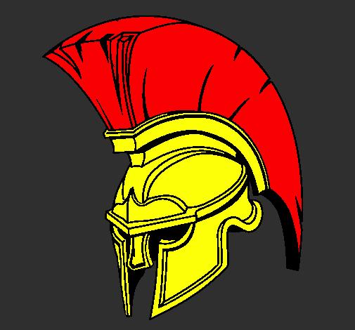 Coloring page Helmet painted bySpartan Helmet