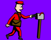 Coloring page Postman painted byBruce