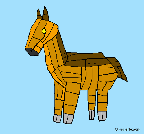 Colored Page Trojan Horse Painted By Biutiful