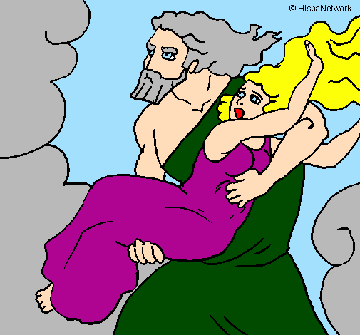 Coloring page The abduction of Persephone painted byKidnap