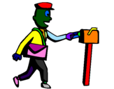 Coloring page Postman painted bydavide