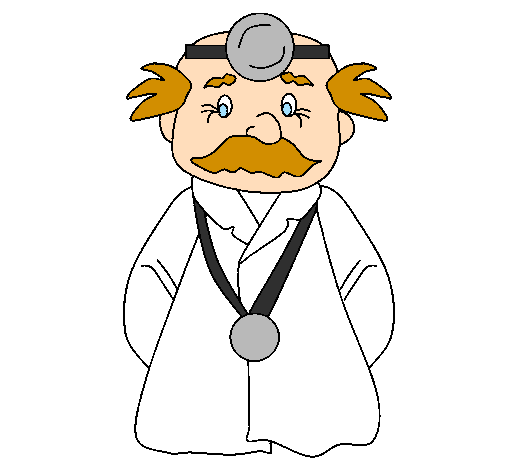 Coloring page Veteran doctor painted byyuza