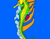 Coloring page Oriental sea horse painted byANA SOPHIIA
