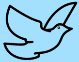 Coloring page Dove of peace painted byjoselin