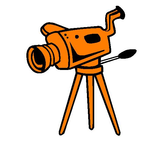Coloring page Movie camera painted byAca kamera