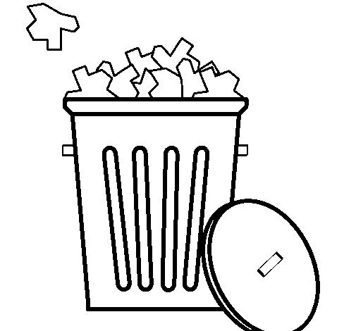 Раскраски мусор