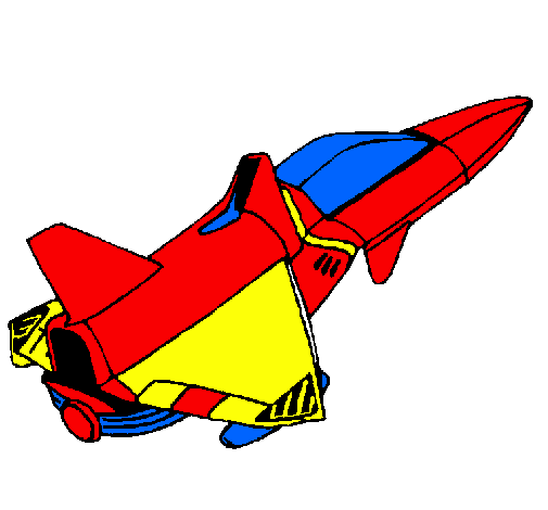 Coloring page Rocket ship painted byADRIAN