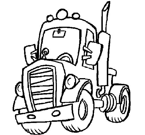Coloring page Tractor painted bycv