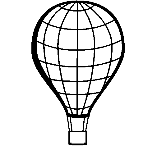 Coloring page Hot-air balloon painted bycc