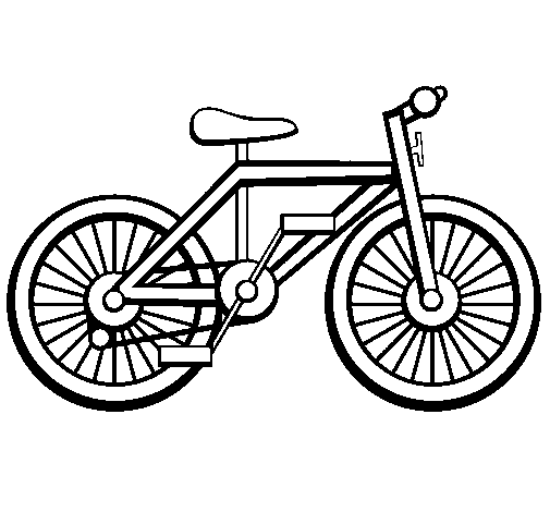 Coloring page Bike painted bycv