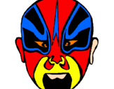 Coloring page Wrestler painted byLewis